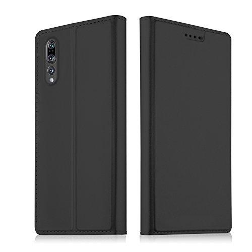 SHIEID Funda para Huawei P20 Lite Funda Ultra Delgado,Cierre magnético,Faux Cuero Billetera Funda para Huawei P20 Lite con Stand Función(Negro)