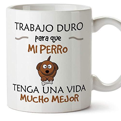 MUGFFINS Taza Perro (Perrito Vida Mejor() - Regalos Originales y Divertidos para...