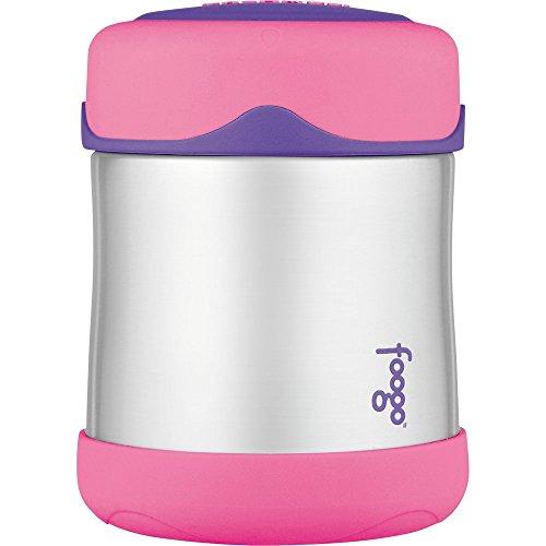 Thermos Foogo – Pote de alimentos de aço inoxidável isolado a vácuo, 295 ml, rosa/roxo