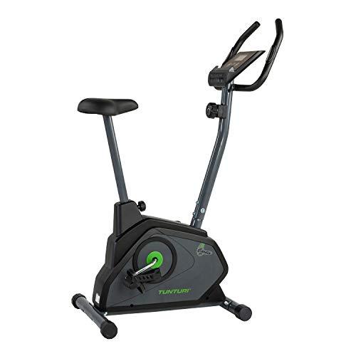 Tunturi Cardio Fit B30 Heimtrainer fahrrad  / Fitnessfahrrad / Hometrainer fahrrad trainer mit LCD-Bildschirmanzeige und Tablethalterung - Schwarz