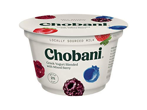 Chobani 2 Percent Mixed Berry Blended Greek Yogurt, 5.3 Ounce -- 12 per case.