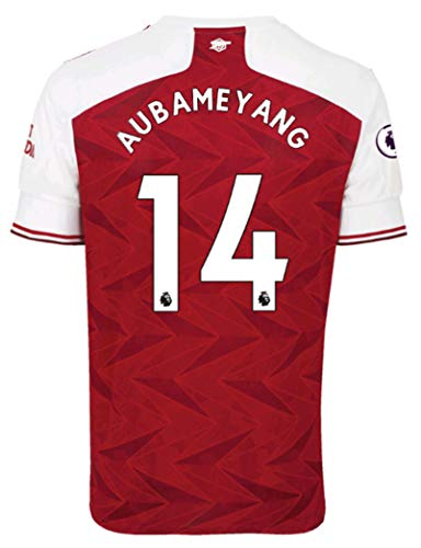 Jertinhf 2020-2021 Kids/Youths Home Soccer Jersey/Short/Socks Colour Red (Arsenal Aubameyang #14(11-13years/size28))