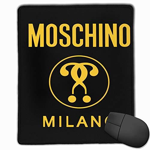 Mos-Chino Mi-Lano Yellow Logo Washable Printed Stylish Office Gaming Gaming Mouse Pad