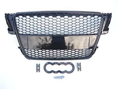 Kühlergrill für A5 B8 8T S5 RS5 2007–2011, Schwarz glänzend