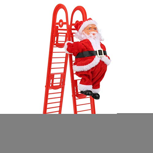 Zer one1 Simple Installation Christmas Ornament, Plastic Material Christmas Decorations, for Christmas Showcase(Red Double Ladder (mask Type))