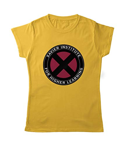 Planet Superheroes X-Men Womens T-Shirt - Classic Logo (Yellow) (L)