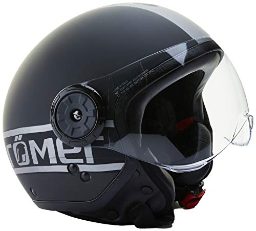 Römer Helmets Casque de Moto Fight, Noir Mat/Argenté, M