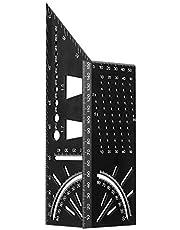 3D geringsvinkel, Orthland Mitre aluminiumlegering stoppvinkel tumstock träbearbetning kvadratisk storlek åtgärd tullstav 90° vinkelmått mätverktyg för trärör, presenter till pappa