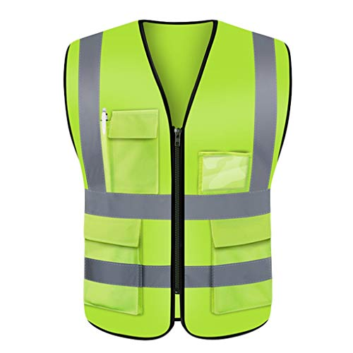 Veiligheidsvest licht en ademend veiligheidsreis 's nachts fluorescerend geel werkkleding reflecterend veiligheidsvest Liuyu.