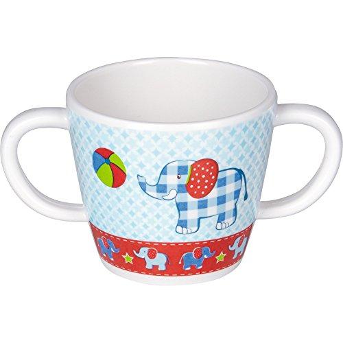 Spiegelburg 14052 Melamin-Tasse mit 2 Henkeln Elefant BabyGlück