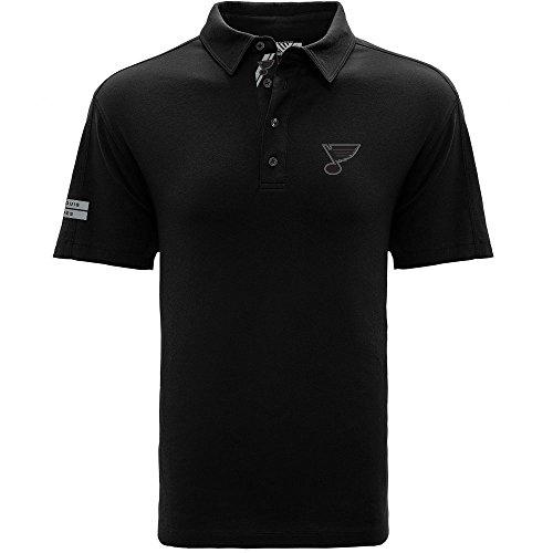 Levelwear LEY9R NHL Herren Poloshirt St. Louis Blues Reign Dart Polo, Größe S, Schwarz
