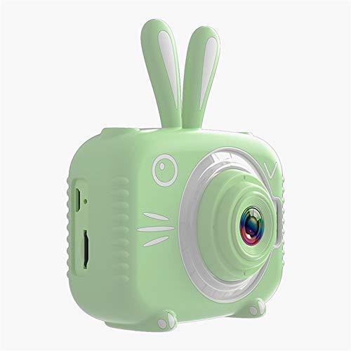 LYQZ Kinder-Digitalkamera 2,0-Zoll-Photo 1080P HD Dual Lens 2000W Kamera Spielzeug Mini-Kinder-Videokamera-Jungen-Mädchen-Geschenk (Bundle : with 16GB SD Card, Color : Green)