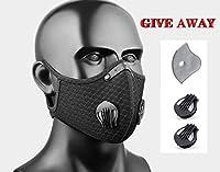 防塵、再利用可能な活性炭、アウトドアスポーツ、ランニング、バイク、自転車、乗馬、花粉防止。 ブラック