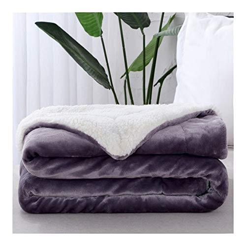 GLANGYU Decken warme Starke Decke Handtuch Mode Fleece-Wendedecke for Bett-Couch Travel Portable Office Startseite Wurfdecken (Color : Q6, Size : 150x200cm)