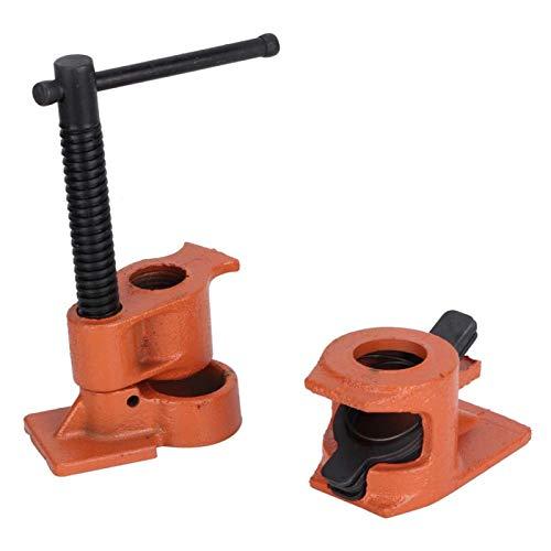 Morsetto per tubi da 1/2 pollice Morsetto per tubi da banco in acciaio fuso Materiale premium con elevata durezza regolata per la lavorazione legno Fissaggio collegamento lavoro gabine