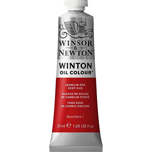 Winsor & Newton Winton - Tubo óleo, 37 ml, tono rojo de cadmio oscuro