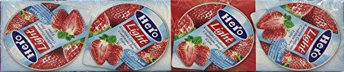 Hero Light Confettura di Fragole, Marmellata Light, Frutta Alta Qualità, Senza Conservanti e Coloranti, Confezione da 4 x25 g, 100 g