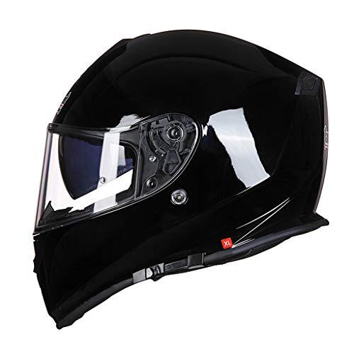 Casque casque de moto casque double lentille anti-buée locomotive casque (Couleur : B-L(55-58cm))