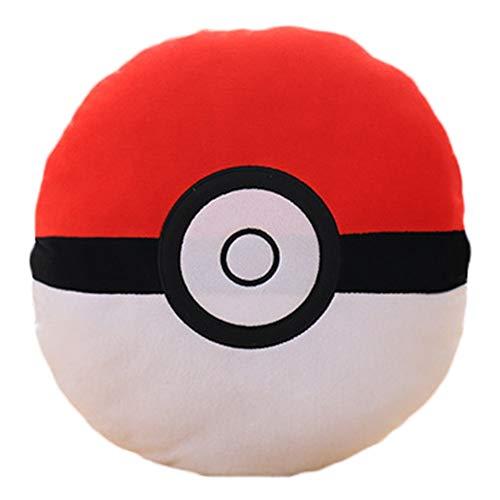 MXLY Anime Plüsch Pokéball in rot-weiß Kissen niedlichen Plüschtier 33cm