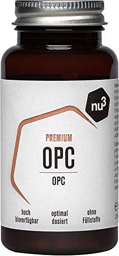nu3 Premium OPC - 120 Kapseln - OPC & Camu Camu - ein perfektes Duo - hohe Bioverfügbarkeit - hochdosierte OPC-Kapsel mit 185 mg - reiner Traubenkernextrakt + Vitamin C - Vegan & Ohne Konservierung