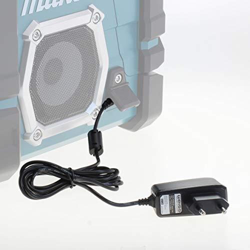 Fuente de alimentación para Makita Radio de Obras DMR110 DMR107 DMR108 DMR106 DMR104 DMR109 BMR100 BMR104 [compatible con: Makita SE00000265 Conector Fuente] de Weiss - More Power +