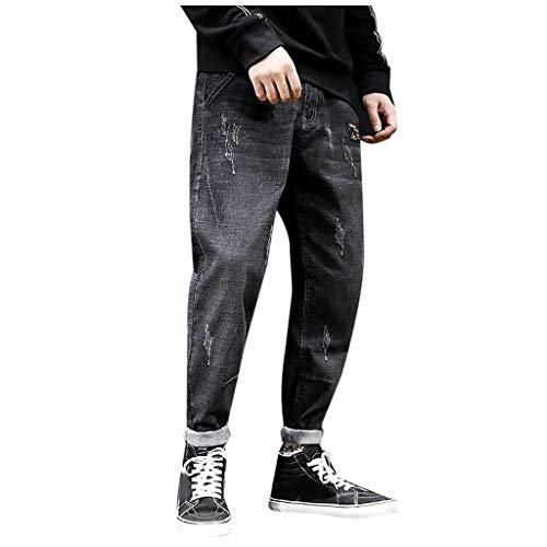 Briskorry baggy jeans herren stretch Cargo Hose Denim Regular Fit Sweathose Twillhose harem hiphop-Hose joker Jogginghose Sweathose Moda Hose Latzhose Basic Cargohose für Männer