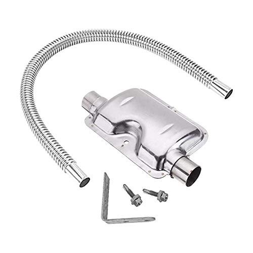 Yicare Auspuffrohr Und Schalldämpfer Heater Kit Edelstahl Abgasschlauch Schaldämpfer Montagesets Filter Zubehör Auspuffrohr 60/120/150/200CM (200cm)