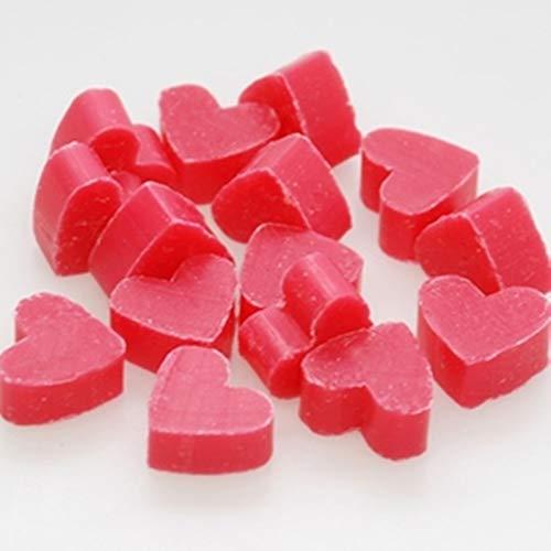 Florex Schafmilchseife Lot de 50 mini mini cœurs en forme de lotus dans une pochette en organza