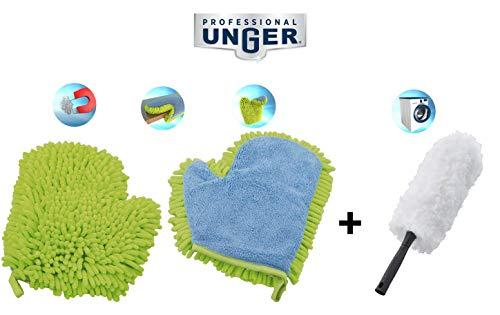 Unger Staubwischer, Mikrofaser Handschuh und Staubwedel, Ideale Kombination für den Haushalt