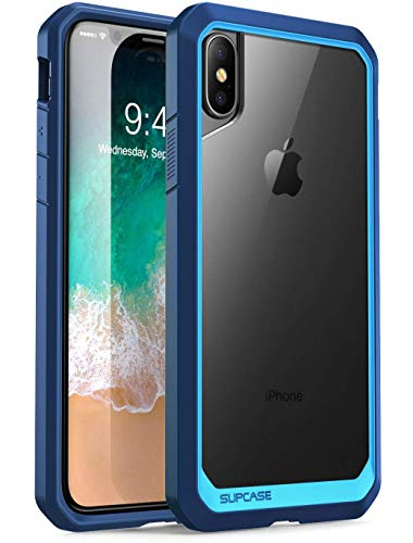SupCase Unicorn Beetle Series, Capa para iPhone X, iPhone Xs, Premium Hybrid Frost Clear Capa para Apple iPhone X 2017, iPhone Xs 5,8 polegadas 2018 (Azul/Marinho)