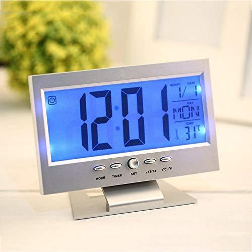 CHENXQ Producten Witte Tafel Led Digitale Klok Bureau Digitale Elektronische Uur USB Klok Grote Alarm Analoge Klok LCD