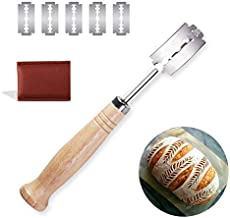 Jonamax Premium Quality Lame Bread Tool – Stainless Steel Bread Scoring Knife With 5 Replaceable Bread Scorer Blade And Protective Leather Cover For Homemade Bread Lame | Lame Bread Cutter