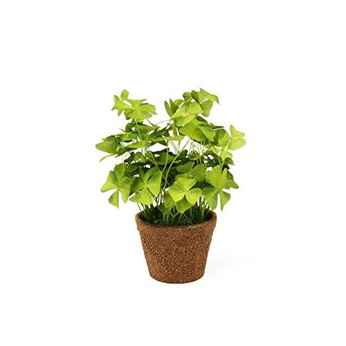 FloristryWarehouse Faux Silk Green Shamrock Oxalis Clover in a Pot 10 Inches Tall