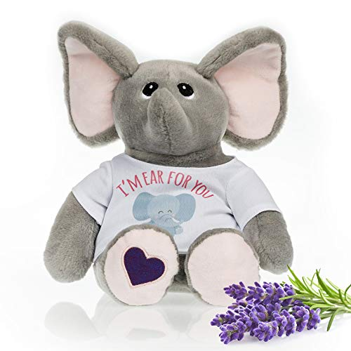 Stuffed Elephant - Heated Microwavable Therapeutic Plush Stuffed Animal with French Lavender Scent