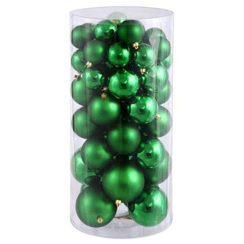 Queens of Christmas WL-ORNTUBE-60-GR - Lote de 100 Bolas de plástico (60 mm), Color Verde
