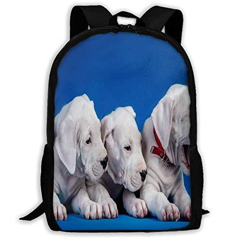 N/A Mochila para niñas y niños, Perros, Cachorros, trío con Cremallera, para la Escuela, para Viajes, Gimnasio, para Hombre y Mujer