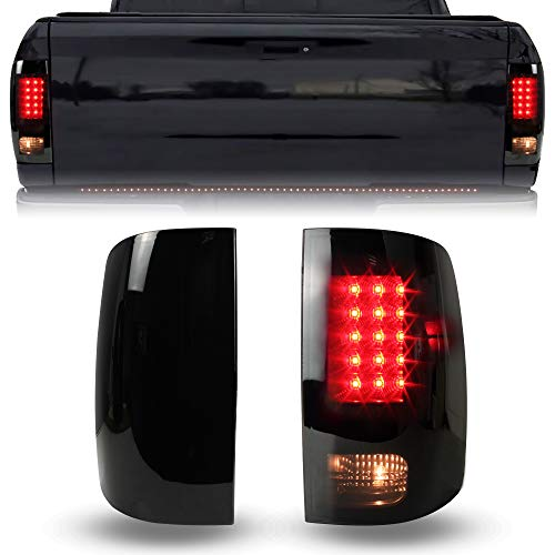 LED Tail Lights for Dodge RAM 1500 2500 3500 09-18, KEWISAUTO Smoked Black LED Taillights Brake Rear Lamps for Dodge RAM 1500 2500 3500 2009-2018 Accessories (2PCS)