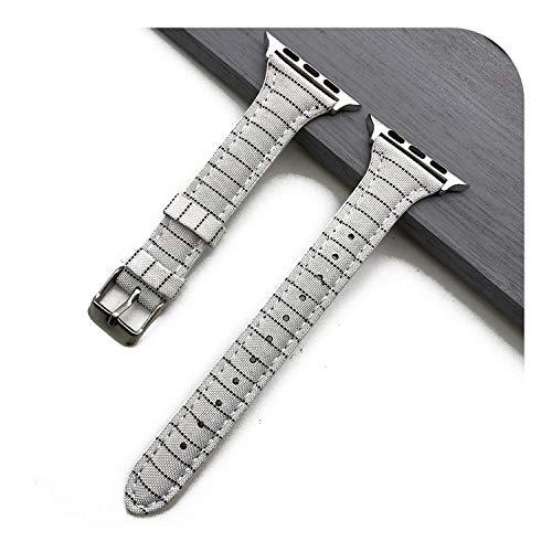 さまざまな家 ローキー 時計シリーズ5 4 3 2 1のための革ストラップFor iWatchバンド高品質スリム時計バンド女性はブレスレットバンド44 42 40 38ミリメートルを交換してください-White-Black-38mm or 40mm