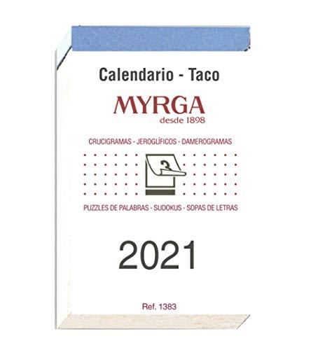 Myrga 1383 - Taco calendario mural, 6.5 x 10.5 cm, Unidades contenidas: 1