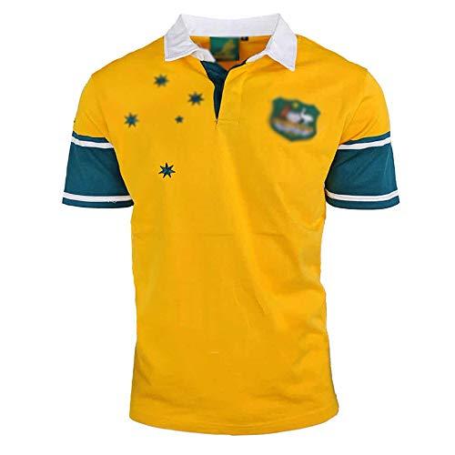 HYQ Rugby 1998 Maru Retro Edition, 1999 Australien Kurzarm T-Shirt Rugby Kleidung bestickte Männer Sweatshirt, Trainingshemd,1999 Australia,XL
