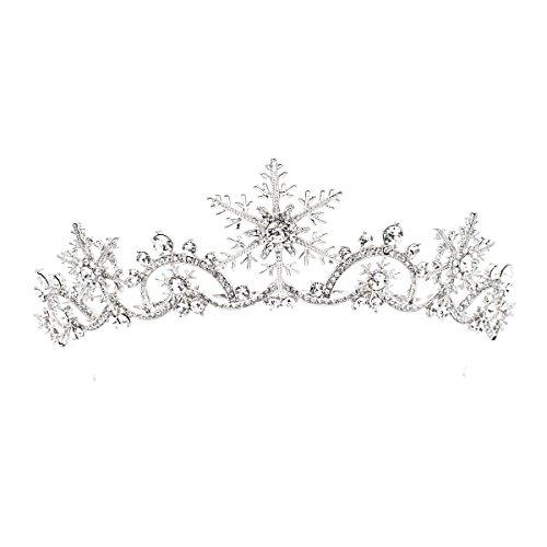 SEPBRIDALS echte österreichische Kristalle Strass Hochzeit Schneeflocke Braut Tiara Krone Haarschmuck SHA8756
