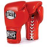 CLETO REYES - Guantes de boxeo tradicionales con cordones de entrenamiento rojo vendido por MinotaurFightStore (14 oz)