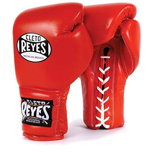 CLETO REYES - Guantes de boxeo tradicionales con cordones de entrenamiento rojo...