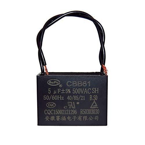 ZHENGLUSM Condensador CBB61 Ventilador del Ventilador del Ventilador del Techo Capacitador de Inicio 500V 0.8/1 / 1.5/1.8/2 / 2.5/3 / 4UF 2pcs -1lot (Capacitance : 3.5UF 500V)