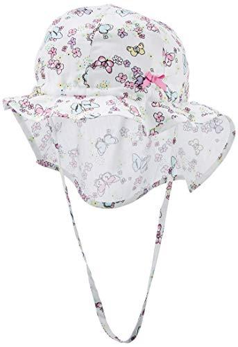 Döll Mädchen Sonnenhut mit Nackenschutz Mütze, Rosa (Fuchsia Pink Pink 2023), (Herstellergröße: 53)
