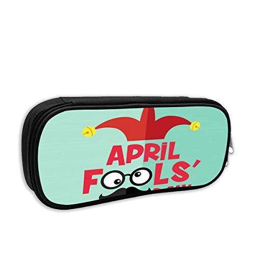 BFGTH April Fool 's Day Pencil Case Holder Bolígrafo portátil para oficina escolar...