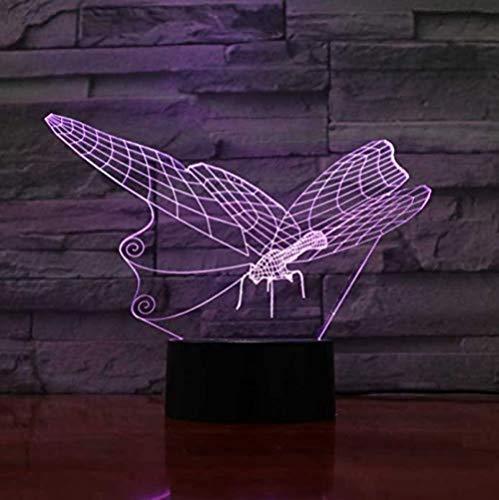 Luz de noche 3D LED lámpara de mesa decorativa interruptor táctil dormitorio de los niños sueño sueño iluminación