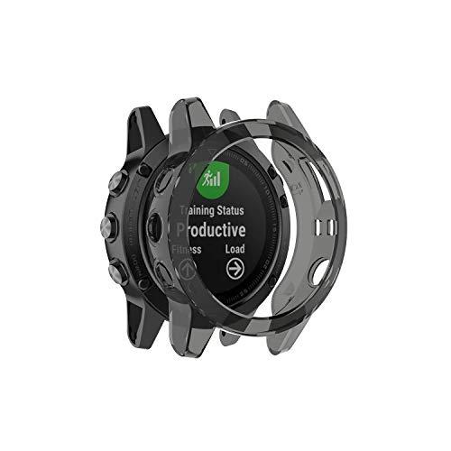 RuenTech - Custodia Protettiva Compatibile con Garmin Fenix 5, in Morbido TPU, con Piastra in Silicone