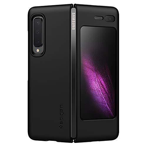 Spigen 615CS26158 Thin Fit Kompatibel mit Samsung Galaxy Fold Hülle, Slim PC Schale Hardcase Leicht Dünn Schutzhülle Handyhülle Hülle Schwarz