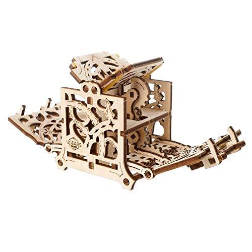 ZQY 3D-Puzzle Einzigartige Mechanische Ausrüstung Heim Tabelle Spiel-Würfel-Halter Aus Holz Construction Kit